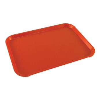 86370 - Cambro - 1216FF-163 - 12 in x 16 in Red Fast Food Tray Product Image
