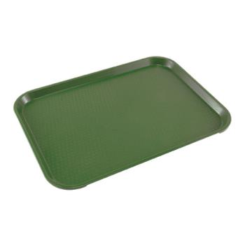 86372 - Cambro - 1216FF119 - 12 in x 16 in Green Fast Food Tray Product Image