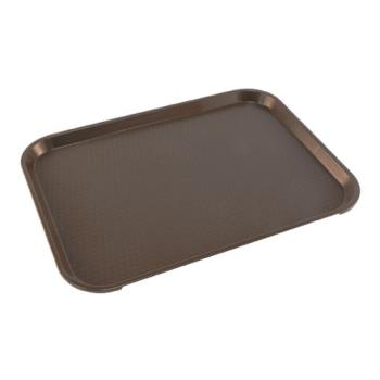 86371 - Cambro - 1216FF167 - 12 in x 16 in Brown Fast Food Tray Product Image
