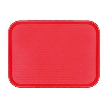 75294 - Cambro - 1418FF163 - 14 in x 18 in Red Fast Food Tray Product Image
