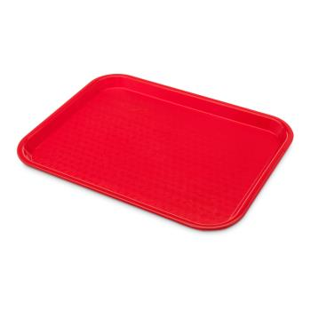 86388 - Carlisle - CT101405 - 14 x 10 in Red Cafe Food Tray Product Image