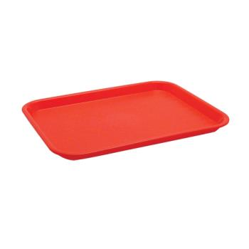 86388 - Carlisle - CT101405 - 14 in x 10 in Red Fast Food Tray Product Image