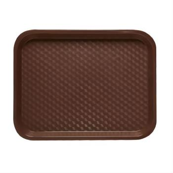 GETFT18BR - GET Enterprises - FT-18-BR - 18 in x 14 in Brown Fast Food Tray Product Image