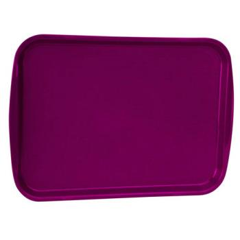 85981 - Vollrath - 1216-21 - 12 in x 17 in Burgundy Fast Food Tray Product Image