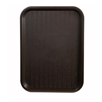 WINFFT1014B - Winco - FFT-1014B - 10 in x 14 in Brown Fast Food Tray Product Image