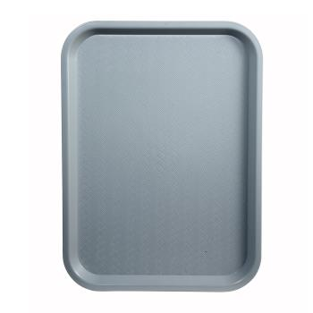 WINFFT1014E - Winco - FFT-1014E - 10 in x 14 in Gray Fast Food Tray Product Image