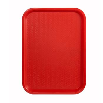 WINFFT1014R - Winco - FFT-1014R - 10 in x 14 in Red Fast Food Tray Product Image