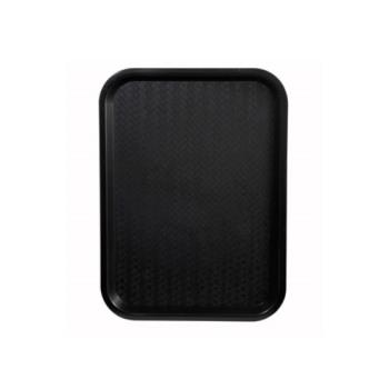 WINFFT1216K - Winco - FFT-1216K - 16 in x 12 in Black Fast Food Tray Product Image