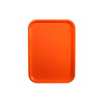 WINFFT1216O - Winco - FFT-1216O - 12 in x 16 in Orange Fast Food Tray Product Image
