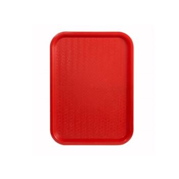WINFFT1216R - Winco - FFT-1216R - 16 in x 12 in Red Fast Food Tray Product Image