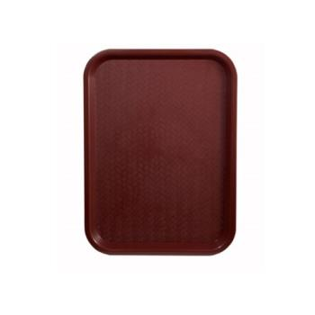 WINFFT1216U - Winco - FFT-1216U - 12 in x 16 in Burgundy Fast Food Tray Product Image