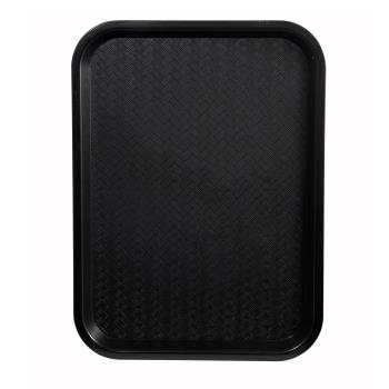 WINFFT1418K - Winco - FFT-1418K - 18 in x 14 in Black Fast Food Tray Product Image