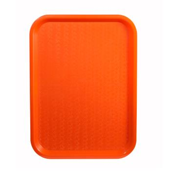 WINFFT1418O - Winco - FFT-1418O - 18 in x 14 in Orange Fast Food Tray Product Image