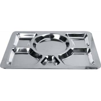 WINSMT1 - Winco - SMT-1 - 15 1/2 in x 11 1/2 in Stainless Steel Cafeteria Tray Product Image