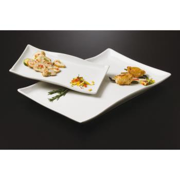 AMMCER25 - American Metalcraft - CER25 - Prestige™ 21 in x 13 1/2 in Wavy Ceramic Platter Product Image