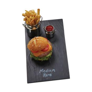 AMMFSLT08 - American Metalcraft - FSLT08 - 14 3/4 in x 8 1/4 in Faux Slate Melamine Platter Product Image