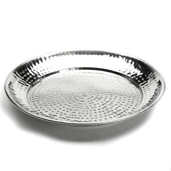 AMMHMRST1301 - American Metalcraft - HMRST1301 - 13 1/2 in Round Hammered Stainless Steel Tray Product Image