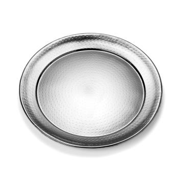 AMMHMRST1801 - American Metalcraft - HMRST1801 - 18 in Round Hammered Stainless Steel Tray Product Image