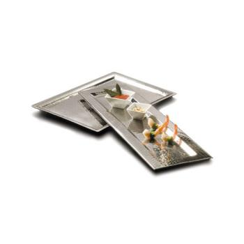 AMMHMRT1611 - American Metalcraft - HMRT1611 - 16 3/8 in x 11 1/4 in Hammered Stainless Steel Tray Product Image