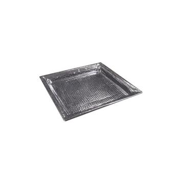 AMMHMSQ16 - American Metalcraft - HMSQ16 - 16 in Square Hammered Stainless Steel Tray Product Image