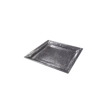 AMMHMSQ18 - American Metalcraft - HMSQ18 - 18 in Square  Hammered Stainless Steel Tray Product Image