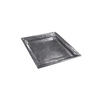 AMMHMSQ20 - American Metalcraft - HMSQ20 - 20 in Square Hammered Stainless Steel Tray Product Image