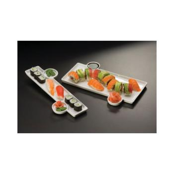 AMMPORS136 - American Metalcraft - PORS136 - Prestige™ 13 in x 6 in Tray w/2 Sauce Cups Product Image