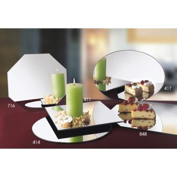 CLM41424 - Cal-Mil - 414-24 - 24 in Round Mirror Tray Product Image