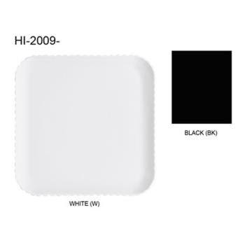 GETHI2009BK - GET Enterprises - HI-2009-BK - Mediterranean Black 12 in Square Plate Product Image