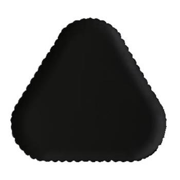 GETHI2011BK - GET Enterprises - HI-2011-BK - Mediterranean Black 12 in Triangle Plate Product Image