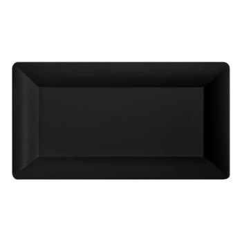 GETML110BK - GET Enterprises - ML-110-BK - Bake and Brew 12 in x 21 in Black Serving Tray Product Image