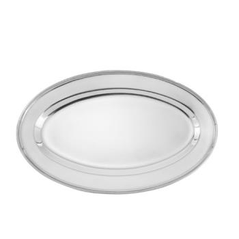 75379 - Winco - OPL-12 - 12 in x 8 5/8 in Oval Stainless Steel Platter Product Image