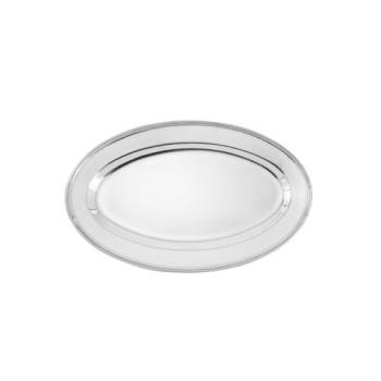 75380 - Winco - OPL-14 - 14 in x 8 3/4 in Oval Stainless Steel Platter Product Image