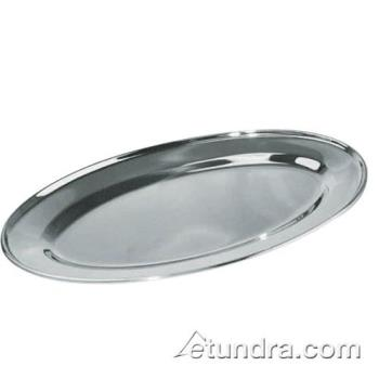 75382 - Winco - OPL-18 - 18 in x 11 1/2 in Oval Stainless Steel Platter Product Image