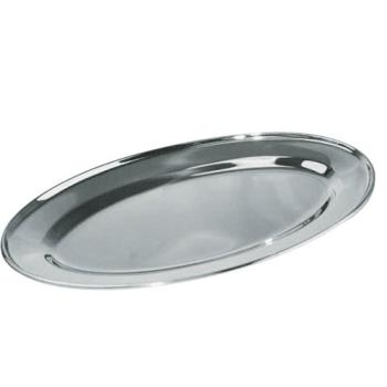 WINOPL20 - Winco - OPL-20 - 20 in x 13 3/4 in Oval Stainless Steel Platter Product Image
