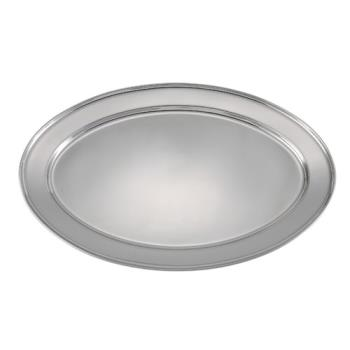 75383 - Winco - OPL-22 - 21 3/4 in x 14 1/2 in Oval Stainless Steel Platter Product Image