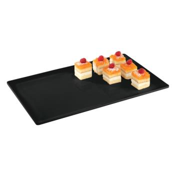 WOR44843B11 - World Cuisine - 44843B11 - 12 7/8 in x 20 7/8 in Black Platter Product Image
