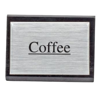 76356 - American Metalcraft - SIGNC3 - 3 in Coffee Triangular Sign Product Image