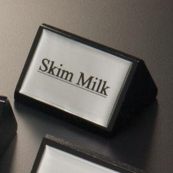 AMMSIGNSK9 - American Metalcraft - SIGNSK9 - 3 in Skim Milk Triangular Sign Product Image