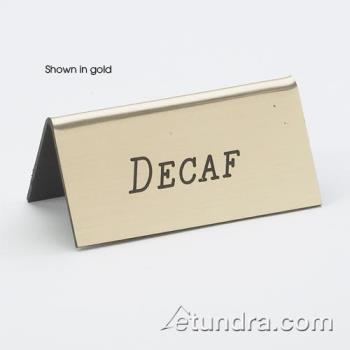 CLM2282010 - Cal-Mil - 228-2-010 - Silver Decaf Table Tent Product Image