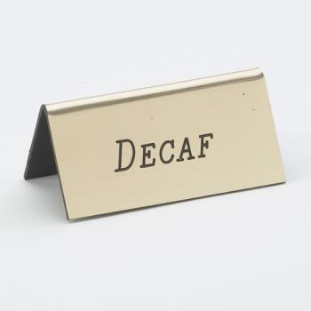 CLM2282011 - Cal-Mil - 228-2-011 - Gold Decaf Table Tent Product Image