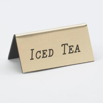 CLM2285011 - Cal-Mil - 228-5-011 - Gold Iced Tea Table Tent Product Image