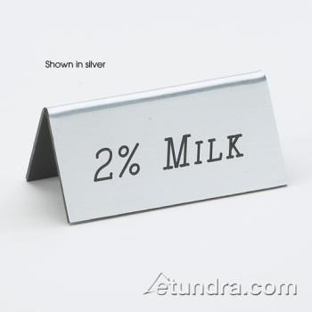 CLM2287011 - Cal-Mil - 228-7-011 - Gold 2 % Milk Table Tent Product Image