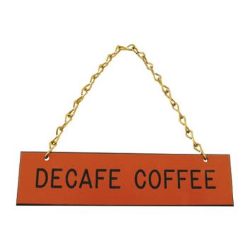 66176 - Tomlinson - 1912598 - Decaf Coffee Hanging Sign Product Image