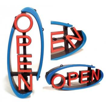 14231 - CM Global - VH-01-RS - Swivel LED Open Sign with Remote Product Image