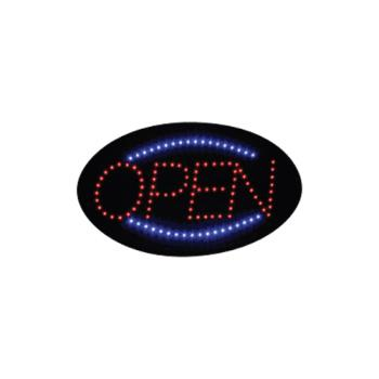 WINLED10 - Winco - LED-10 - 22 3/4 in LED Open Sign Product Image