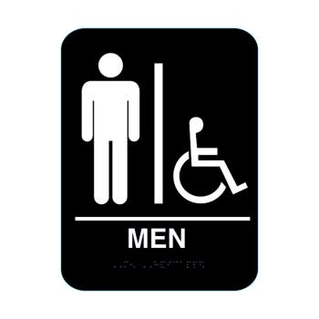 16102 - Cal-Royal Products - BL-MH68 - Men's Handicap Restroom Sign Product Image