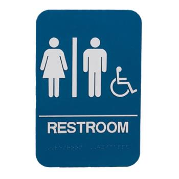38540 - Commercial - 6 in x 9 in ADA Restroom Sign Product Image