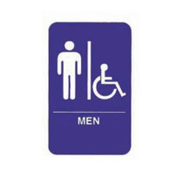 75991 - Tablecraft - 695631 - 6 in x 9 in Men's Restroom Sign Product Image