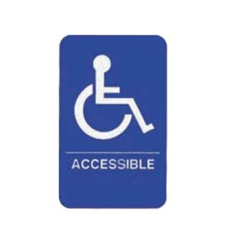 75992 - Tablecraft - 695632 - 6 in x 9 in Accessible Sign Product Image